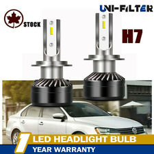 Pair H7 50W High Power 6500K LED Conversion Kit For Headlight Bulb 12000LM VW