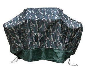 Green Camo Grill Cover 59-Inch Waterproof Barbecue
