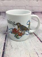 Wyoming Souvenir State Coffee Cup Mug / Meadowlark Bird Flower