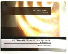 Oxford Anthology of Western Music Klara Moricz Boston University Custom Ed Pbk