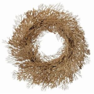 NEW NIB Regency International Gold Glitter Mini Bead 30'' Twig Wreath