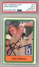 Jack Nicklaus Autographed 1981 Donruss Golf Rookie Card #13 Mint 9 PSA 28177721