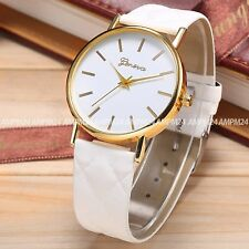 Unbranded Faux Leather Strap Luxury Wristwatches