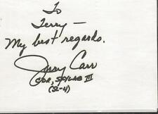 Jerry Carr Signed Index Card Skylab III