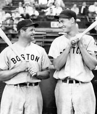 ROOKIE TED WILLIAMS WITH JIMMIE FOXX RED SOX ALL TIME GREAT HOFERS  photo 8x10