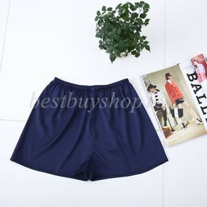 Women Pettipants Satin Anti static Slip Bloomers Loose Split Skirt Pajama shorts