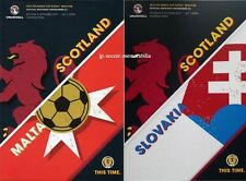 Programme(s) Scotland v Malta & Slovakia - World Cup Group F Qualifier's - MINT