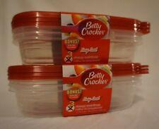 New listing Betty Crocker Easy Seal 3-ct Storage Container Set (30.3 fl) Bonus 2 Sets 6-Ct