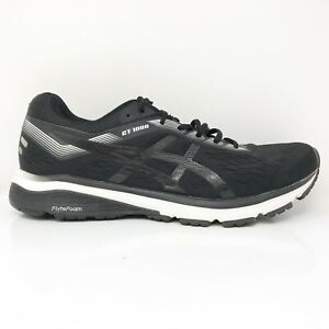 Asics Mens GT 1000 7 1011A042 Black Running Shoes Lace Up Low Top Size 9.5