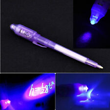 Creative Gift Purple 2 In 1 UV Black Light Combo Stationery Invisible Ink Pen