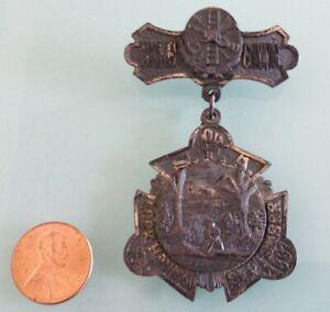 1897 Vintage PENNSYLVANIA Firemen's Association PIN antique RARE Lock Haven, PA