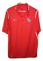 Nike Dri-FIT MENS Mens Wicking BULLDOGS Red Golf Polo Short Sleeve Shirt L Large