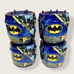 (4x) Lot Of 4 Mystery DC Batman Spin Master Mini Figure Blind Box Capsule Sealed