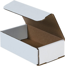 Aviditi White Corrugated Cardboard Mailing Boxes 8 X 6 X 3 Inches Pack Of 50