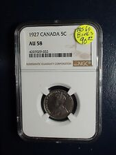 1927 Canada Nickel NGC AU58 5C Better DateType Coin PRICED FOR QUICK SALE NOW!
