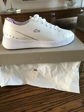 Used - Perfect Cond  Womens Lacoste  Eyyla Trainers In White / Purple size 6