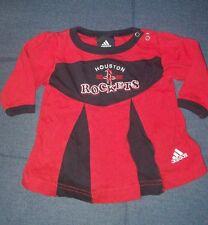 Houston Rockets Infant Cheerleader One Piece Top 3-6 mths Red Black Adidas EUC