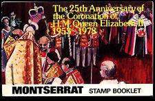 Montserrat 1978 SG#SB3 Coronation 25th Anniv Stamp Booklet MNH #C37471