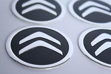 CITROEN 4 x 60mm Alu Emblem Felgen Aufkleber Logo Nabendeckel Nabenkappen