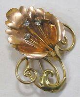 Vintage Jewelry Signed Van Dell Gold Filled Brooch Stylized Calla Lily