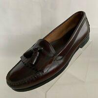 Hanover Handsewn Loafers Tassel Kiltie Burgundy Leather Slip On Shoes Size 12D/B