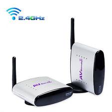 2.4GHz Audio AV Sender IR Remote Wireless Extender Transmitter RCA Receivers New