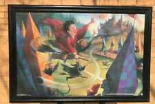 Harry Potter Quidditch Book Art Solid Wood Framed Textured Picture Print