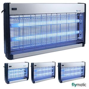 FLYMATIC COMMERCIAL INSECT KILLER 16W 20W 30W ELECTRIC UV FLY KILLER BUG ZAPPER