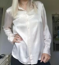 Alexa Chung For Marks And Spencer Oyster Satin Blouse Size 14