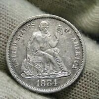 1884S Seated Liberty Dime, 10 Cents, Key Date, Nice Coin (111)