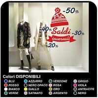 """Adesivi """"Saldi cappellino invernale"""" - Misure 150x135 cm Vetrofanie per saldi"""