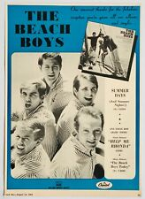 The Beach Boys 1965 original Poster Advert Summer Days Capitol Records