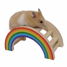Puente de Palo de Rosa Rainbow Play Boredom Breaker Pequeño Animal Juguete de actividad