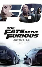 FATE OF THE FURIOUS (2017) 4ft x 5.5ft Movie Banner- Bus Shelter/Subway - Diesal