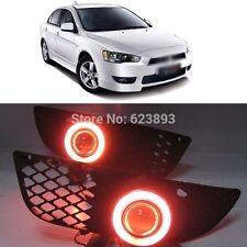 2x Daytime Fog Lights Projector angel eye kit For Mitsubishi Lancer EX 2008-2012