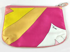 EMILIO PUCCI SIGNED SCARF PRINT SMALL CLUTCH MAKEUP BAG COIN PURSE WALLET POUCH
