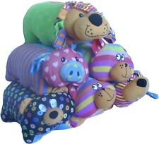 Kids Cushions Pets Animal Pillow Soft Toy Pig Dog Bear Lion Cat 38cm x35.5cm NEW