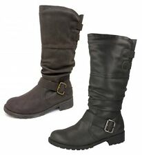 Zip Patternless Spot On Synthetic Boots for Women