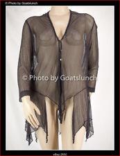 Taking Shape Deep Grey Lacey Mesh Cardi Jacket Size 20 (Medium) NWOT Travel