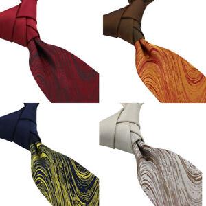 Coachella Ties  Stripes Line Patchwork Necktie Contrast Knot Tie Formal Neck Tie