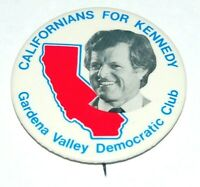 1980 TED KENNEDY Edward EMK campaign pin pinback button political CALIFORNIA