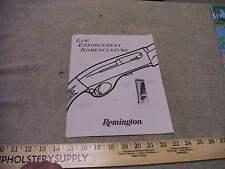 Remington Firearms Law Enforcement Nomenclature Handout