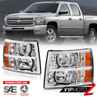 L+R Factory Style Replacement Headlight Headlamps Assembly Chevy Silverado 07-14