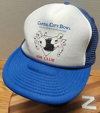 "VINTAGE CAPITAL CITY BOWL HELENA MONTANA ""650 CLUB"" HAT SNAPBACK GODD COND"