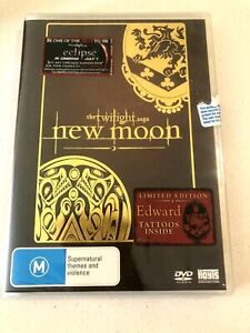 The Twilight Saga New Moon dvd + Limited Edition Edward Tattoos New and Sealed