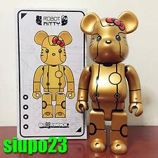 Medicom 400% Bearbrick ~ Action City x Hello Kitty Be@rbrick Gold Robot Kitty
