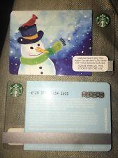Snowman Cardinals on Hat - Christmas 2016 Starbucks Card UK Coffee Card 6129