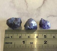 Large genuine unheated natural Purple Tanzanite rough crystal loose 1 piece 🦄
