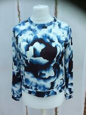Lovely Louche Blue & White Floral Digital Print Top - BNWT