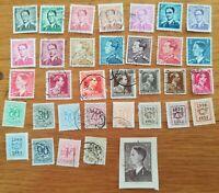 lot N°104 - 33 timbres BELGIQUE